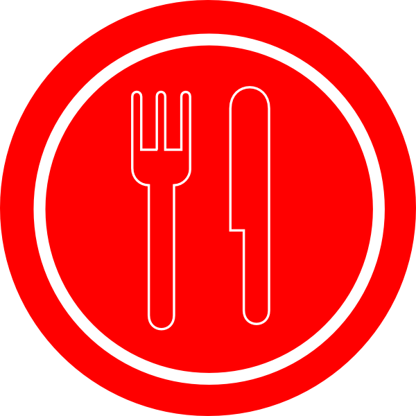 Turkey with knife and fork clipart clip royalty free download Red Plate With Knife And Fork Clip Art at Clker.com - vector clip ... clip royalty free download