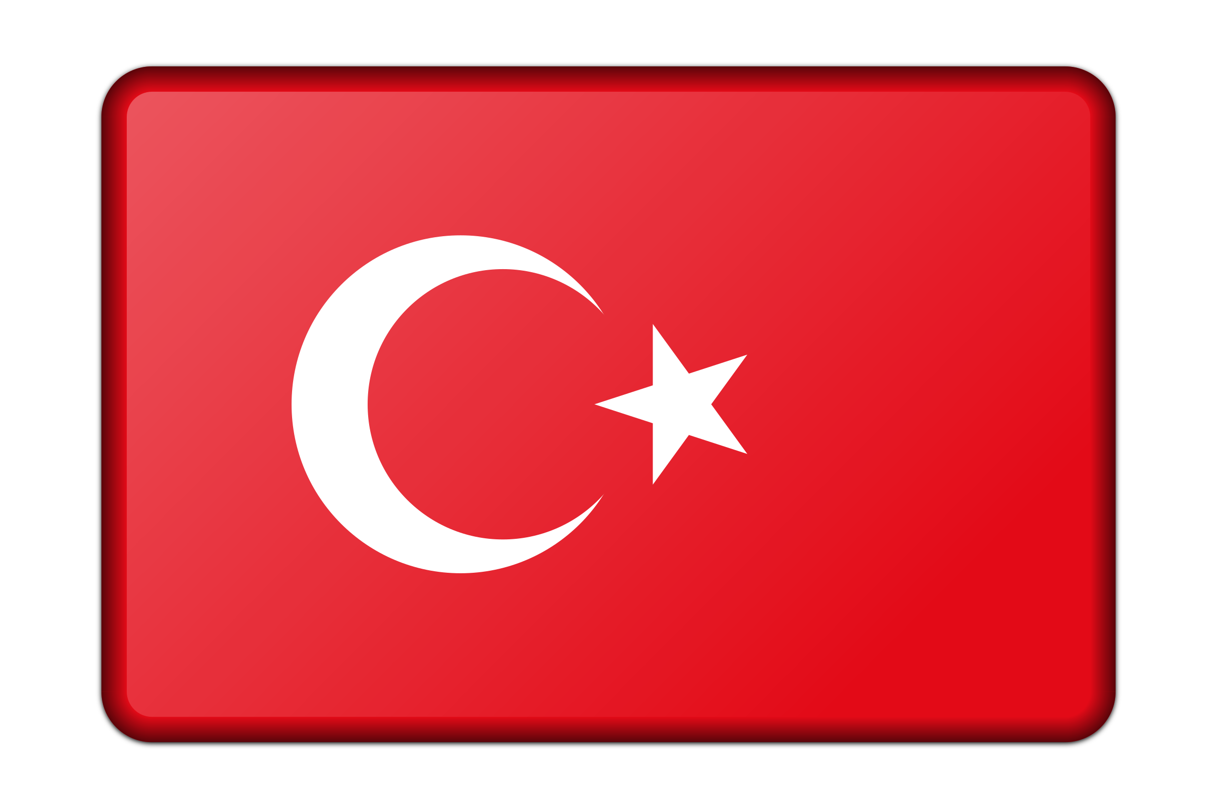 Turkey country clipart clip art free download Clipart - Turkey flag (bevelled) clip art free download