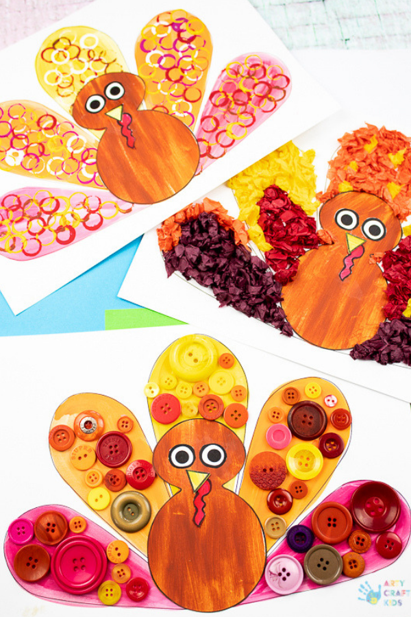 Turkey craft clipart for kids printable cutout clip royalty free download Circle Print Turkey Craft   Arty Crafty Kids clip royalty free download