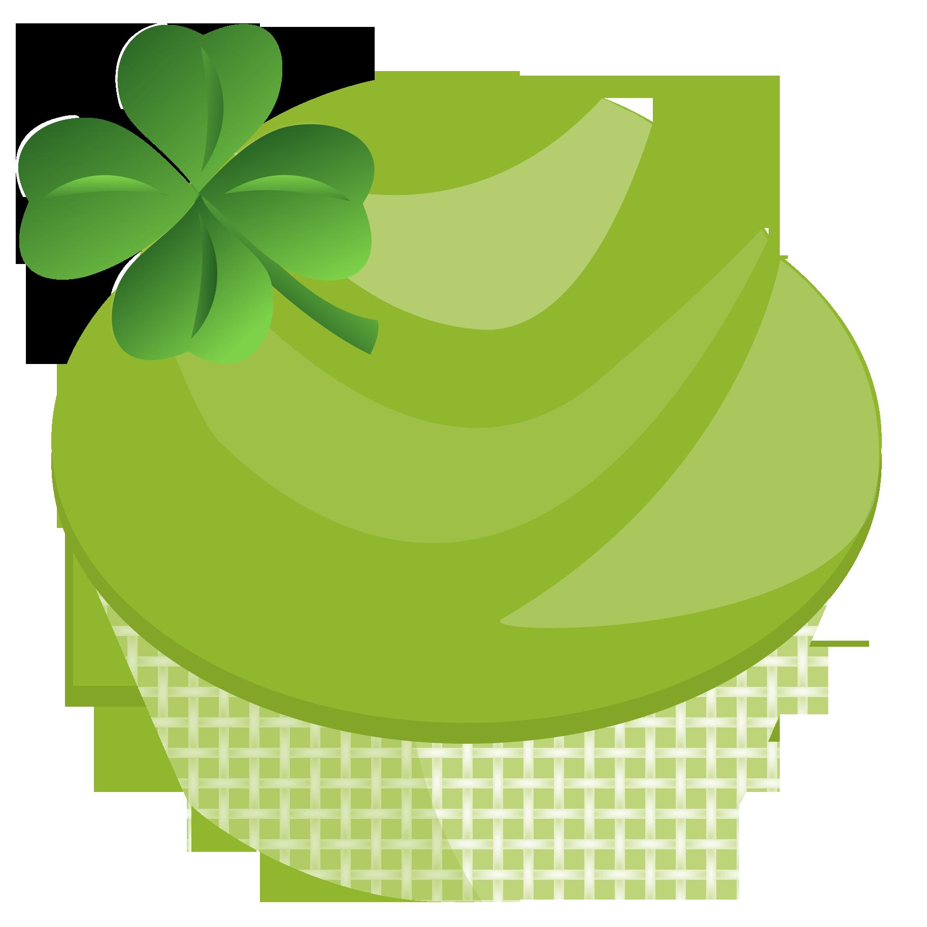 Turkey cupcake clipart black and white download St. Patricks Day Cupcake Graphic | Cupcake Clipart black and white download