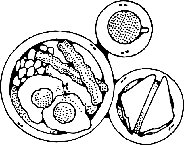 Turkey dinner clipart black and white svg freeuse library 28+ Collection of Dinner Plate Clipart Black And White   High ... svg freeuse library