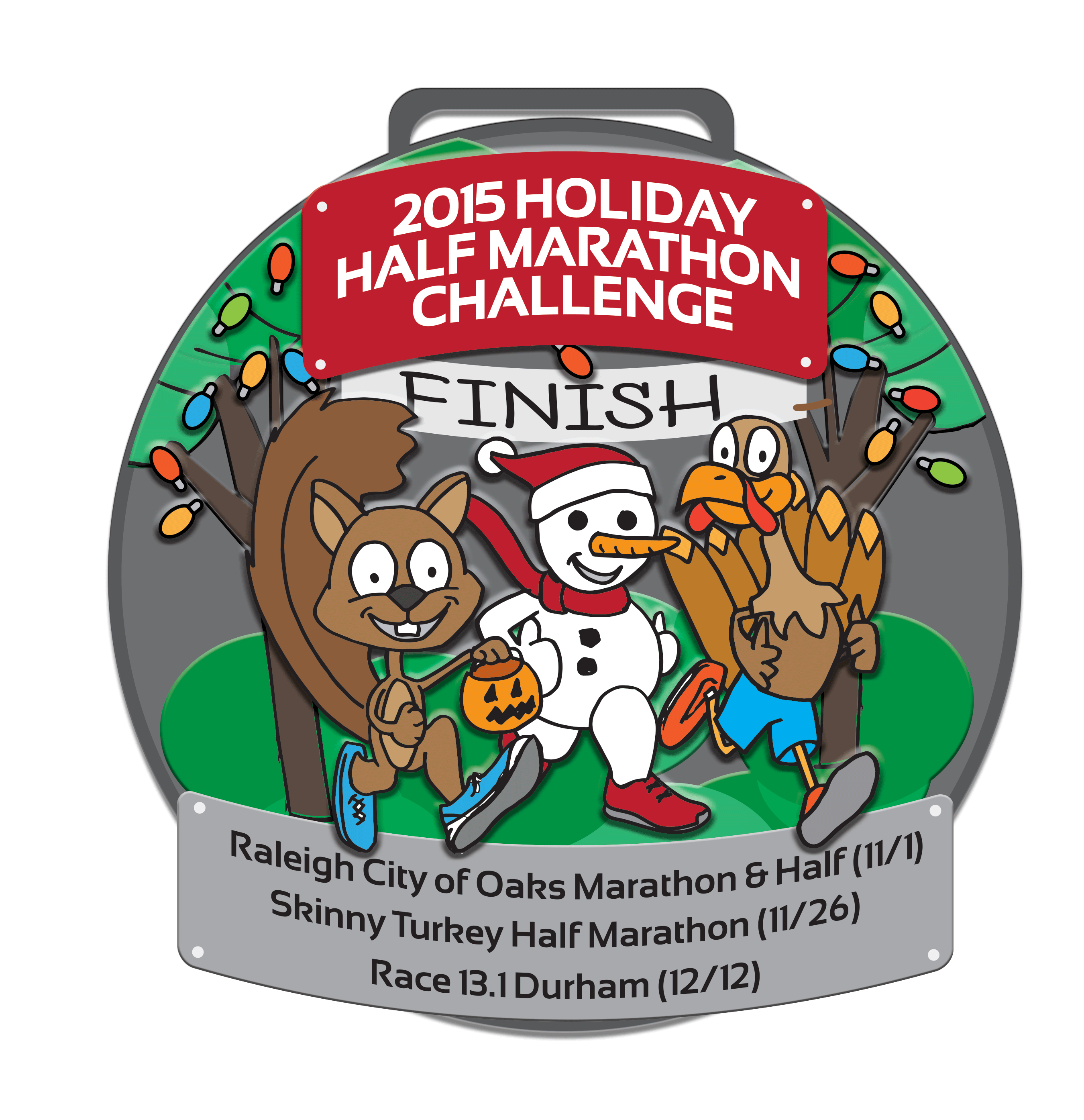 2015 Holiday Half Marathon Challenge - Earn this medal by completing ... image library download
