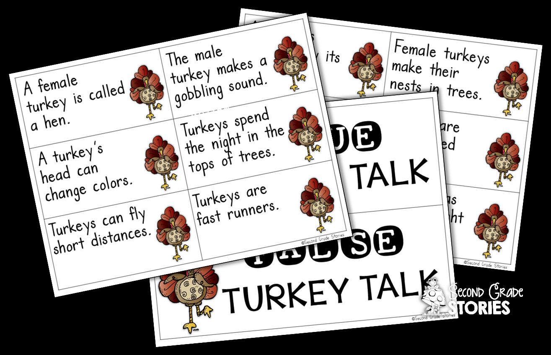 Let's Talk Turkey - Nonfiction Turkey Fun! - Second Grade Stories vector stock
