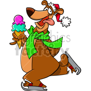 Turkey eating ice cream clipart clip art transparent cartoon bear ice skating with ice cream cone clipart. Royalty-free clipart  # 407119 clip art transparent