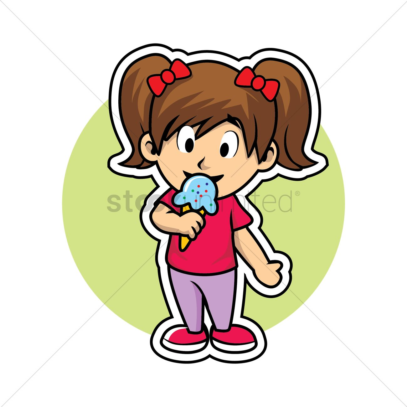Turkey eating ice cream clipart clip royalty free library Free Girl eating ice cream Vector Image - 1336574 ... clip royalty free library