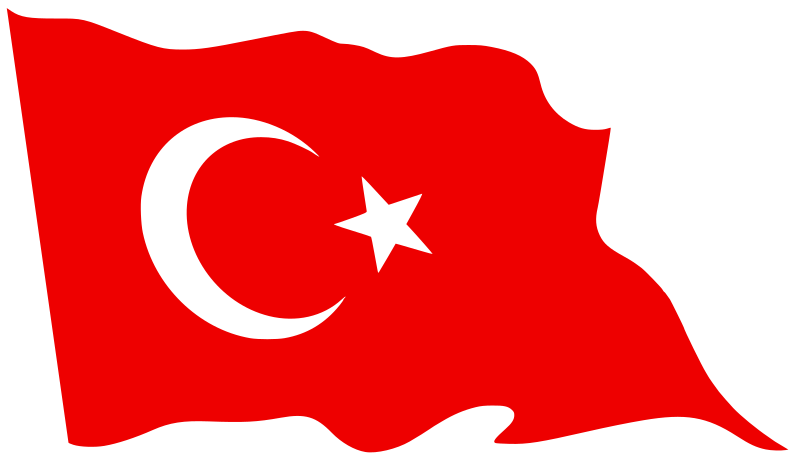 Turkey flag clipart royalty free library Clipart - Flag of Turkey - Waving royalty free library
