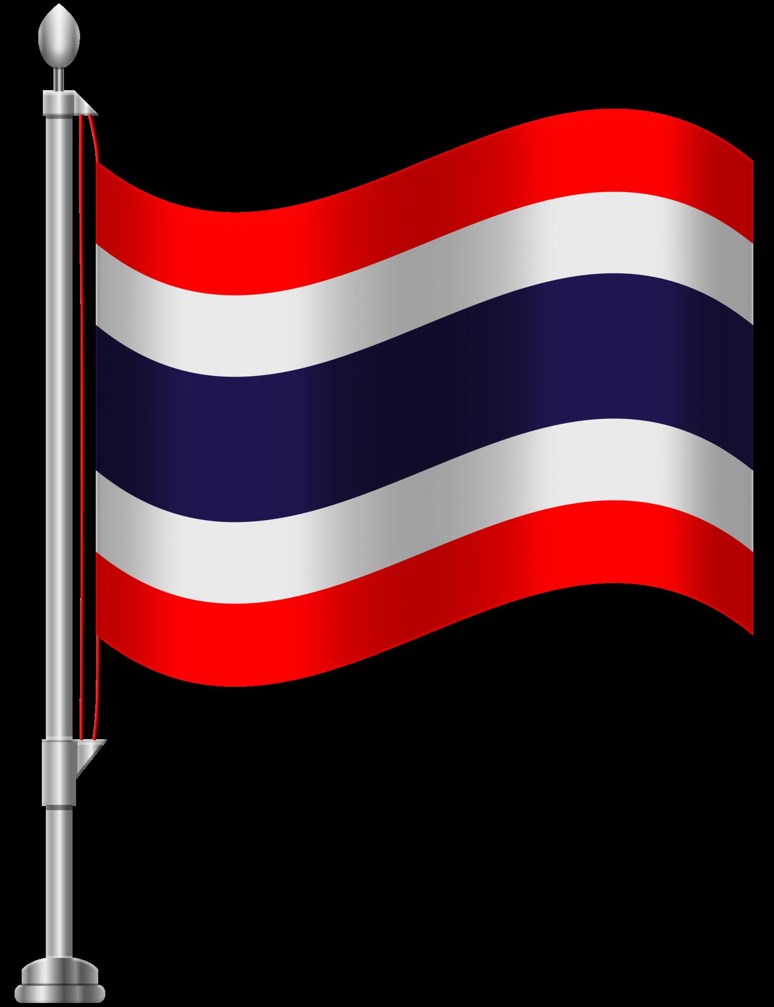 Thailand Flag PNG Clip Art graphic transparent