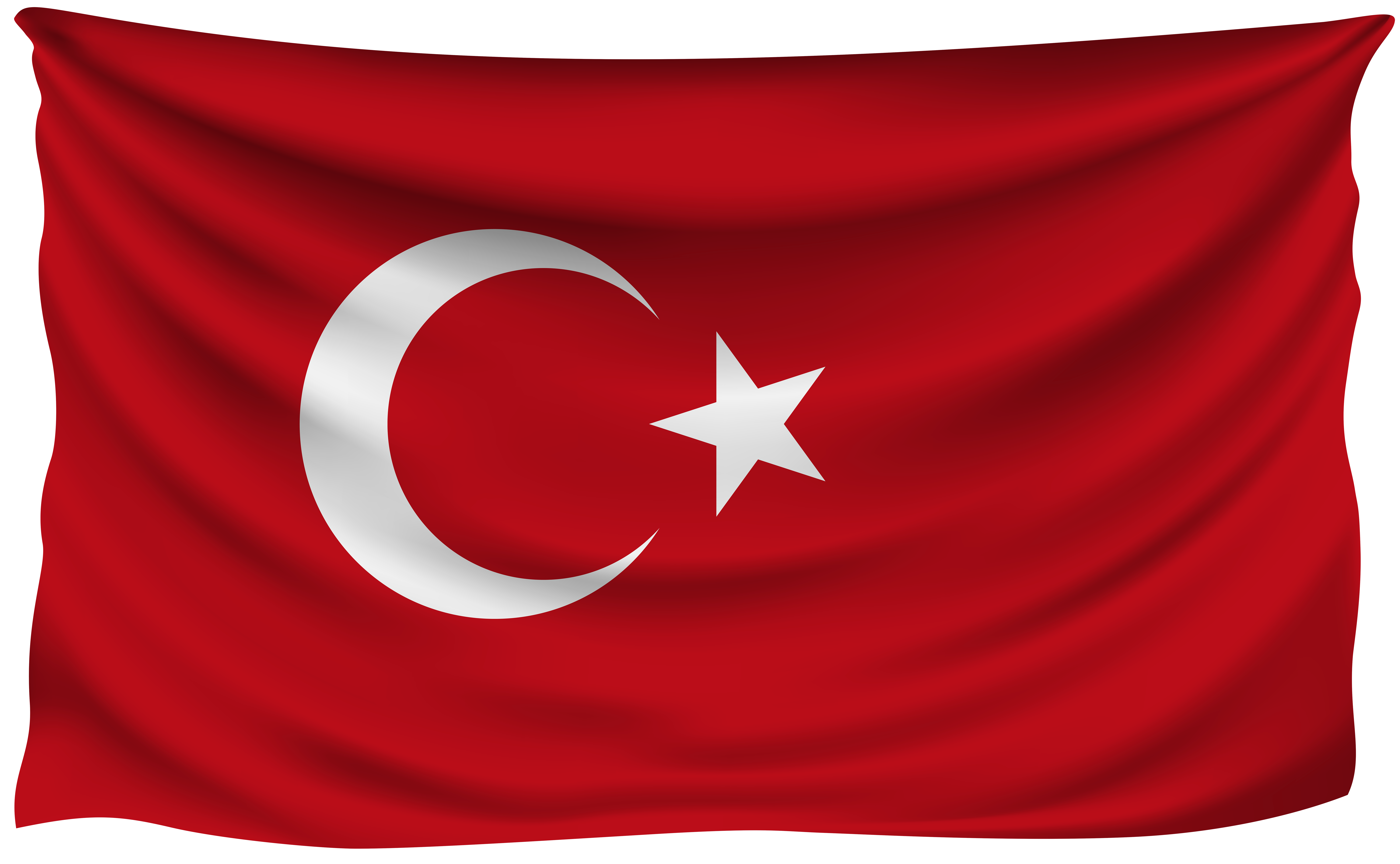 Turkey flag clipart picture free Turkey Wrinkled Flag | Gallery Yopriceville - High-Quality Images ... picture free