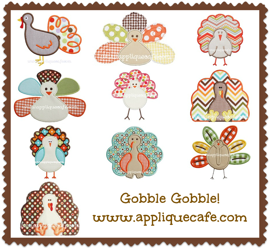 Turkey monogram clipart svg black and white library Turkey Applique Designs | Applique Cafe | Pinterest | Embroidery ... svg black and white library