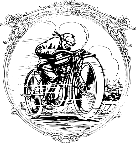 Turkey on a motorcycle clipart jpg library library Vintage Motorcycle In A Frame Clip Art at Clker.com - vector clip ... jpg library library
