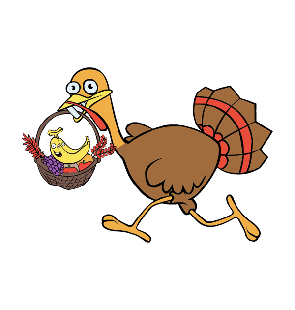 Turkey on the run clipart png black and white download 28+ Collection of Thanksgiving Turkey Running Clipart | High quality ... png black and white download