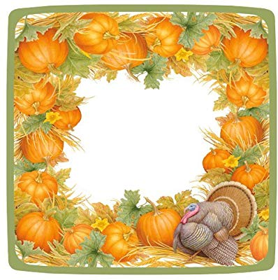 Turkey plaete clipart on table svg stock Thanksgiving Napkins and Plates Turkey Table Decorations ... svg stock