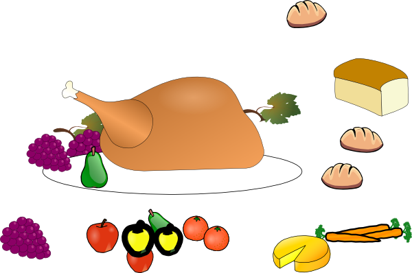 Clipart cooked turkey meat at the thanksgiving table library Free Cliparts Thanksgiving Plates, Download Free Clip Art ... library
