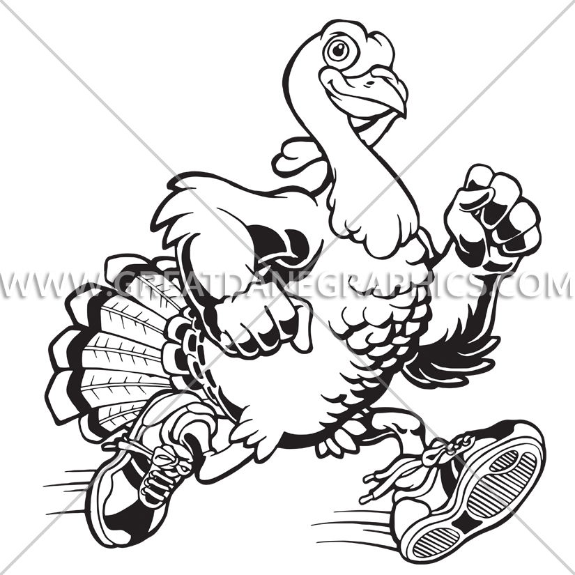 Turkey running clipart black and white freeuse Turkey Run | Production Ready Artwork for T-Shirt Printing freeuse