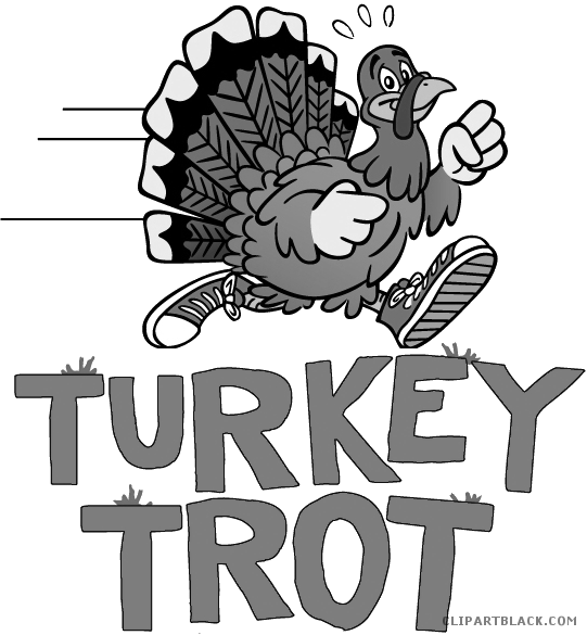 Turkey running clipart black and white picture freeuse stock Running Turkey Clipart - ClipartBlack.com picture freeuse stock