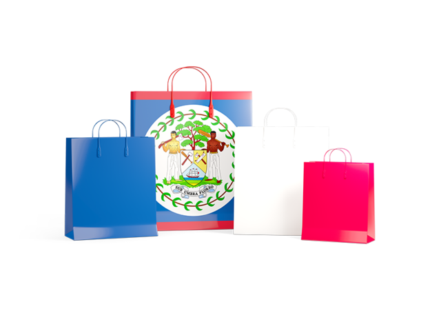 Turkey shopping bags clipart black and white download Shopping bags with flag. Illustration of flag of Belize black and white download