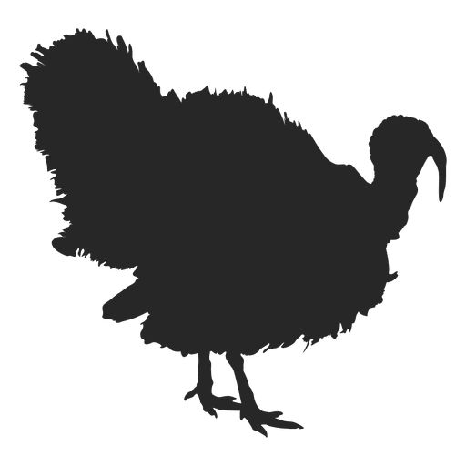 Turkey silhouette clipart free image black and white library Turkey meat Silhouette Clip art - turkey bird png download ... image black and white library