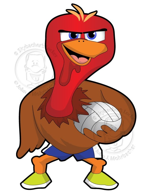 Turkey volleyball clipart jpg free library Angry Volleyball Turkey | Skybacher\'s Locker jpg free library
