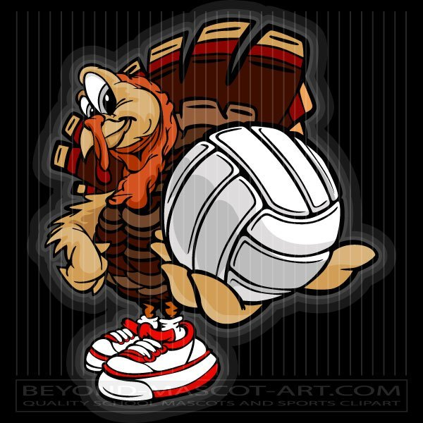 Turkey volleyball clipart clipart royalty free stock Turkey Holding Volleyball Cartoon Vector Volleyball Image clipart royalty free stock