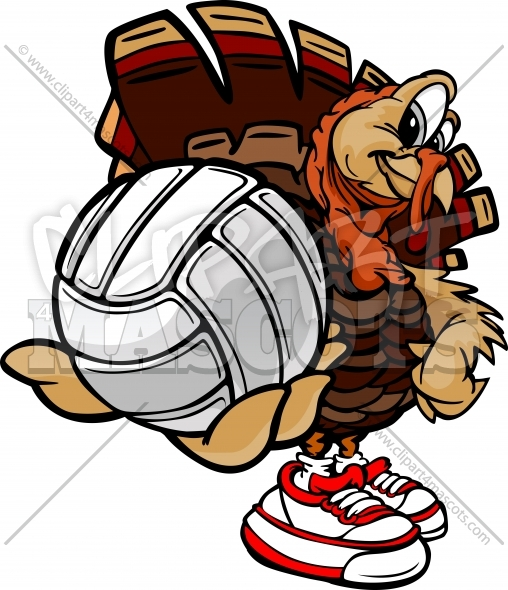 Turkey volleyball clipart picture royalty free Volleyball Turkey Clipart Graphic Vector Cartoon picture royalty free