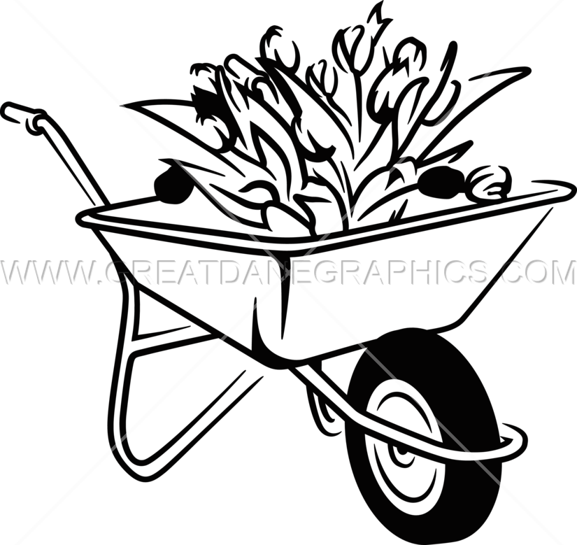 Turkey with a wheel barrow clipart clipart black and white library 28+ Collection of Wheelbarrow Drawing Easy | High quality, free ... clipart black and white library