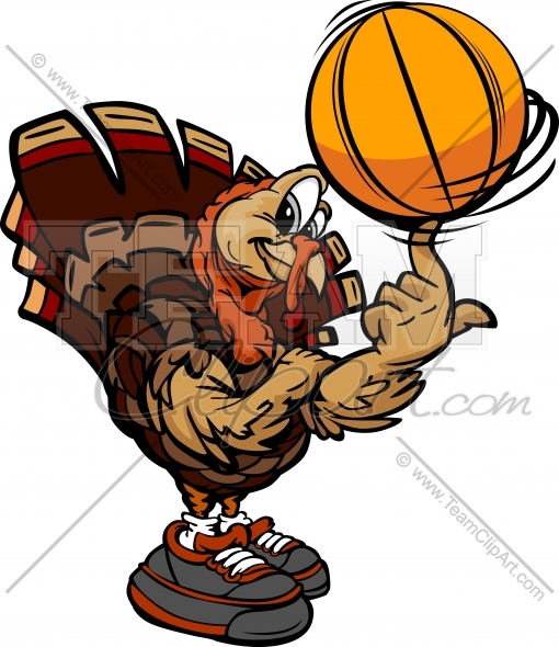 Turkey with basketball clipart graphic transparent Turkey With Basketball Clipart graphic transparent