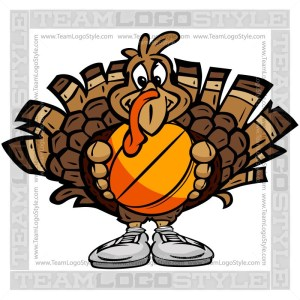 Turkey with basketball clipart picture black and white stock Thanksgiving Sports Clipart Images Archives - Team Logo Style picture black and white stock
