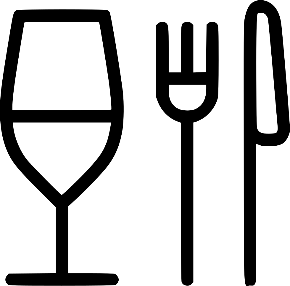 Turkey with knife and fork clipart clip art royalty free library Glass Fork Knife Restaurant Food Svg Png Icon Free Download (#483256 ... clip art royalty free library