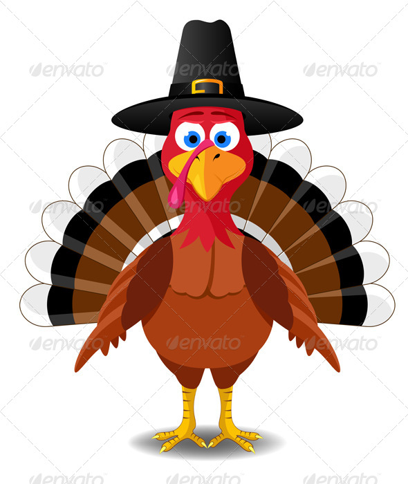 Turkey with pilgrim hat clipart graphic free library Thanksgiving Turkey Vector | Free download best Thanksgiving ... graphic free library