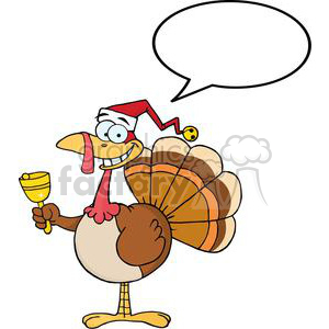 Turkey with santa hat clipart clip library download 3650-Happy-Turkey-With-Santa-Hat clipart. Royalty-free clipart # 381443 clip library download