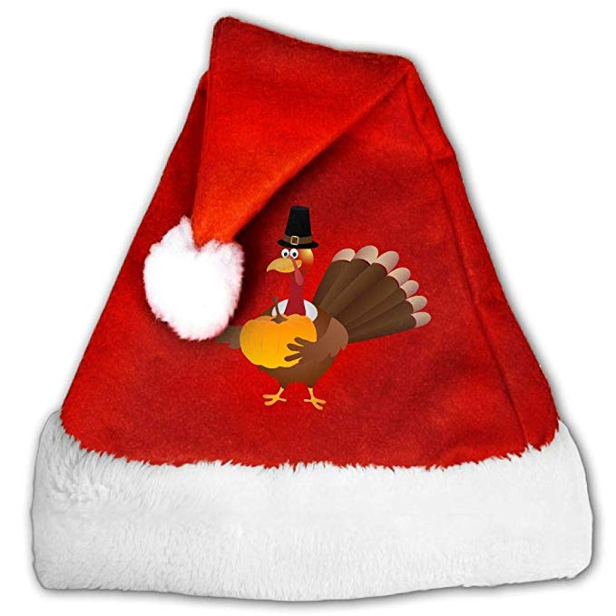 Turkey with santa hat clipart banner freeuse stock Amazon.com: Turkey Clipart Plush Santa Hat Comfortable ... banner freeuse stock