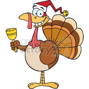 Turkey with santa hat clipart clip art freeuse download 3649-Happy-Turkey-With-Santa-Hat clipart. Royalty-free clipart # 381445 clip art freeuse download