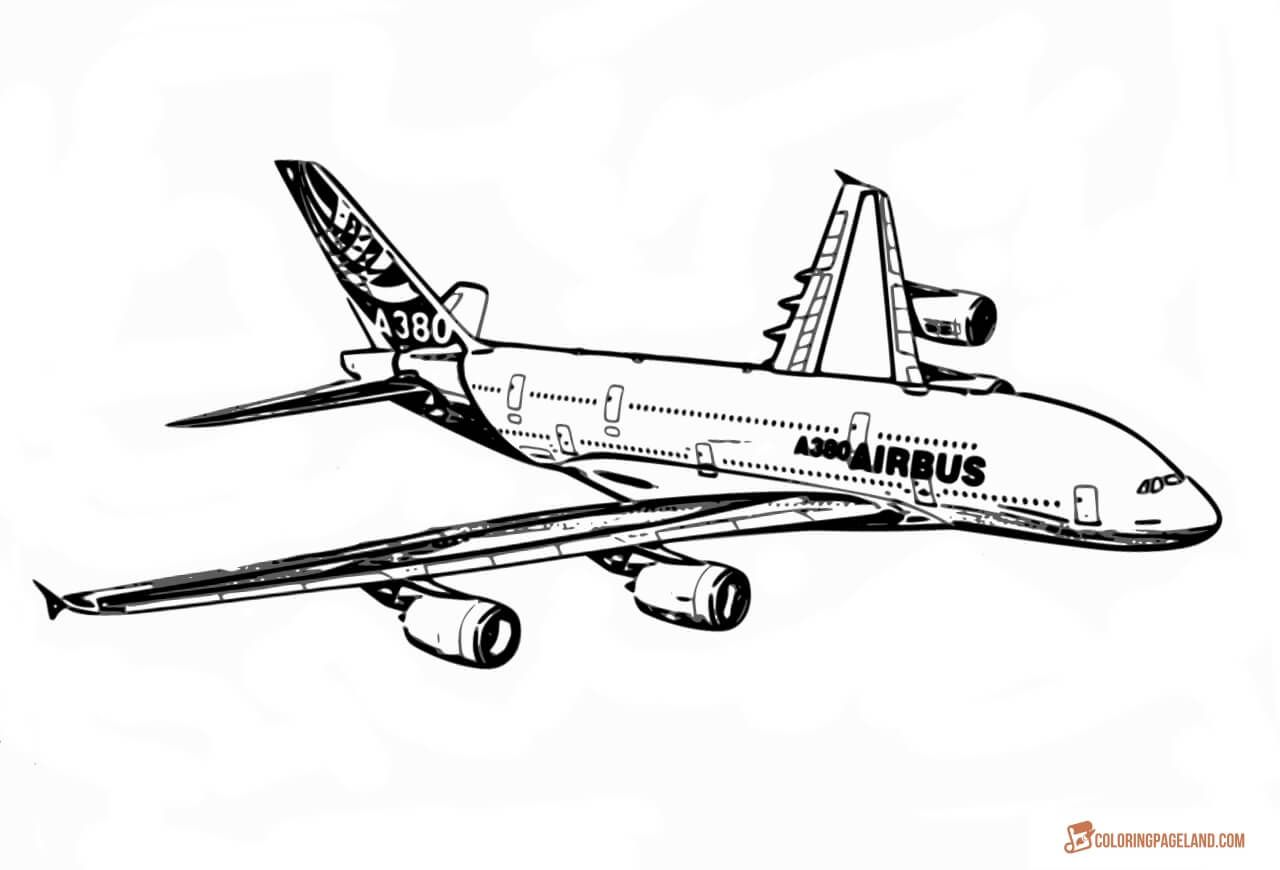 Turkish airlines clipart for kids to paint graphic royalty free stock Airplane Coloring Pages - Free Printable B&W Pictures ... graphic royalty free stock