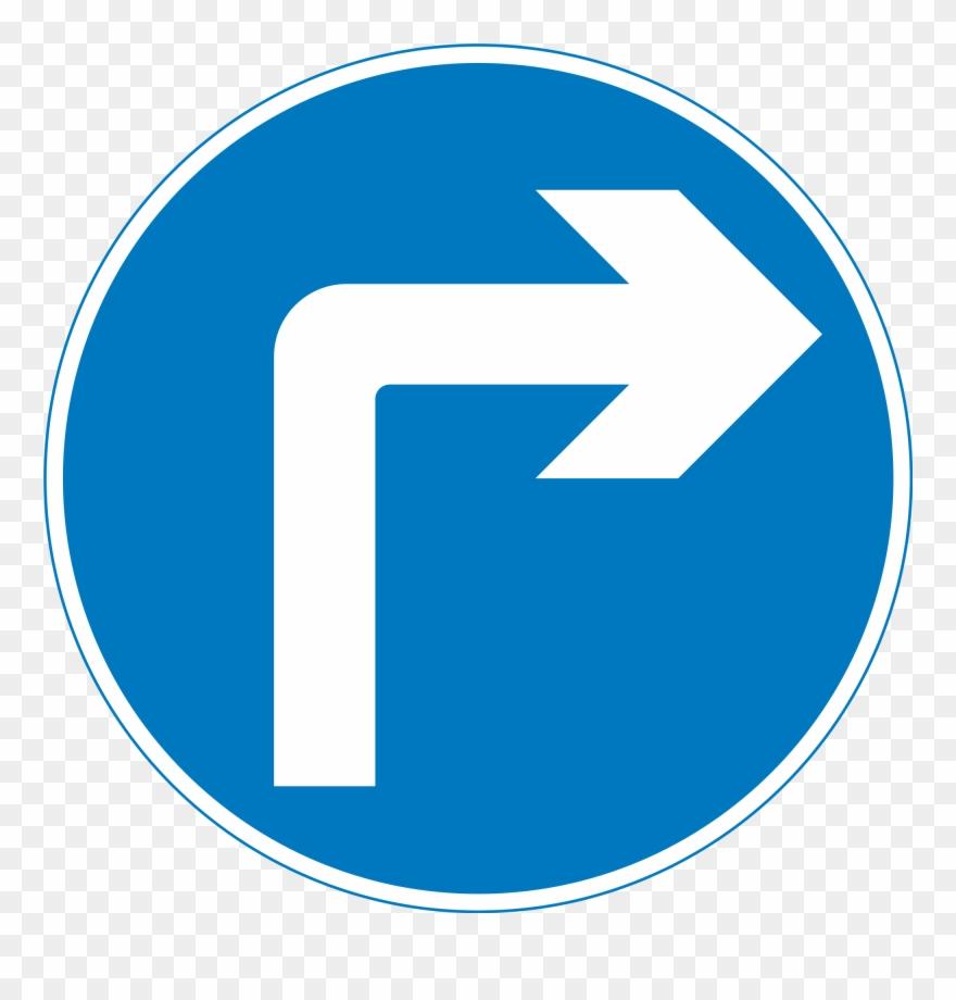 Turn clipart clipart free stock Uk Traffic Sign 609a - Traffic Signs Right Turn Ahead ... clipart free stock
