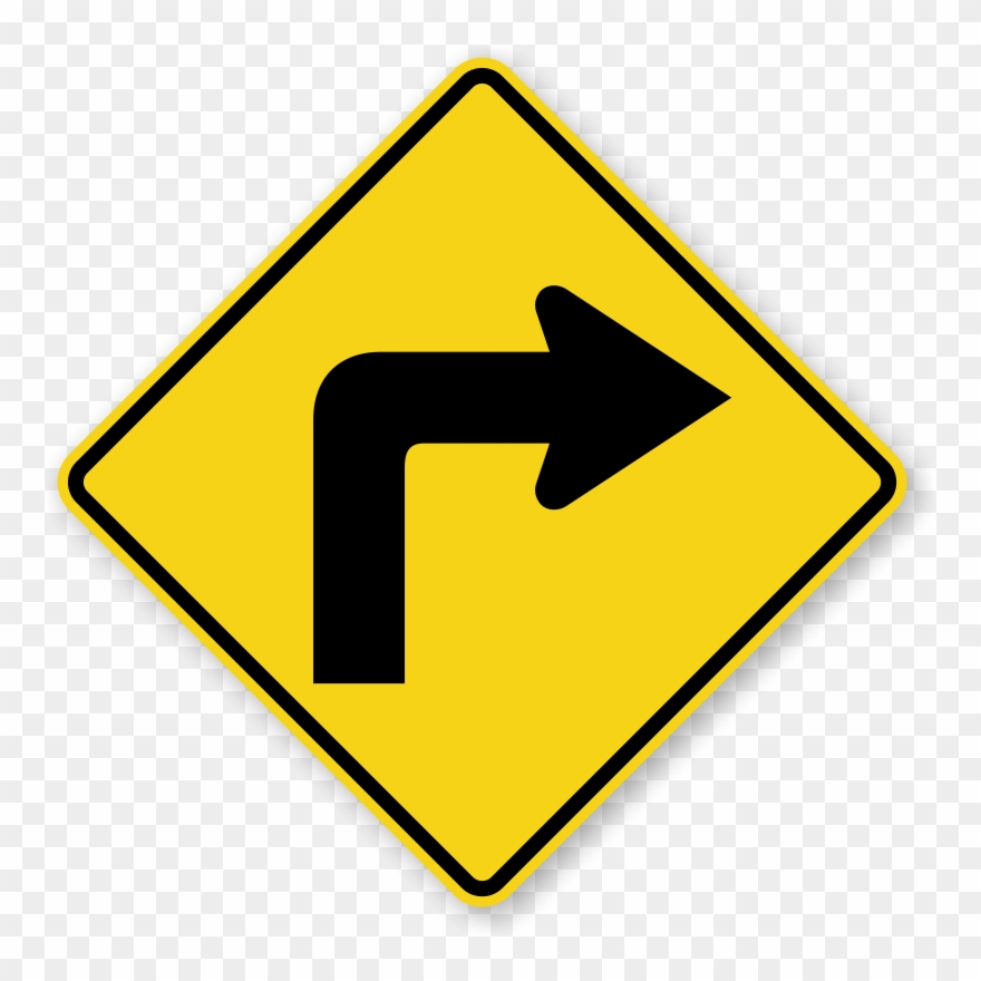 Turn clipart image Right Turn - Traffic Signs Right Turn Clipart (#3341769 ... image
