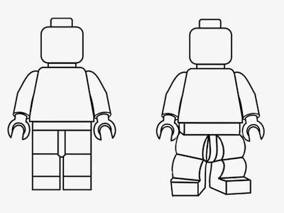 Turn photo into lego clipart clip transparent download Simple black and white clipart LEGO Minifigures outline ... clip transparent download