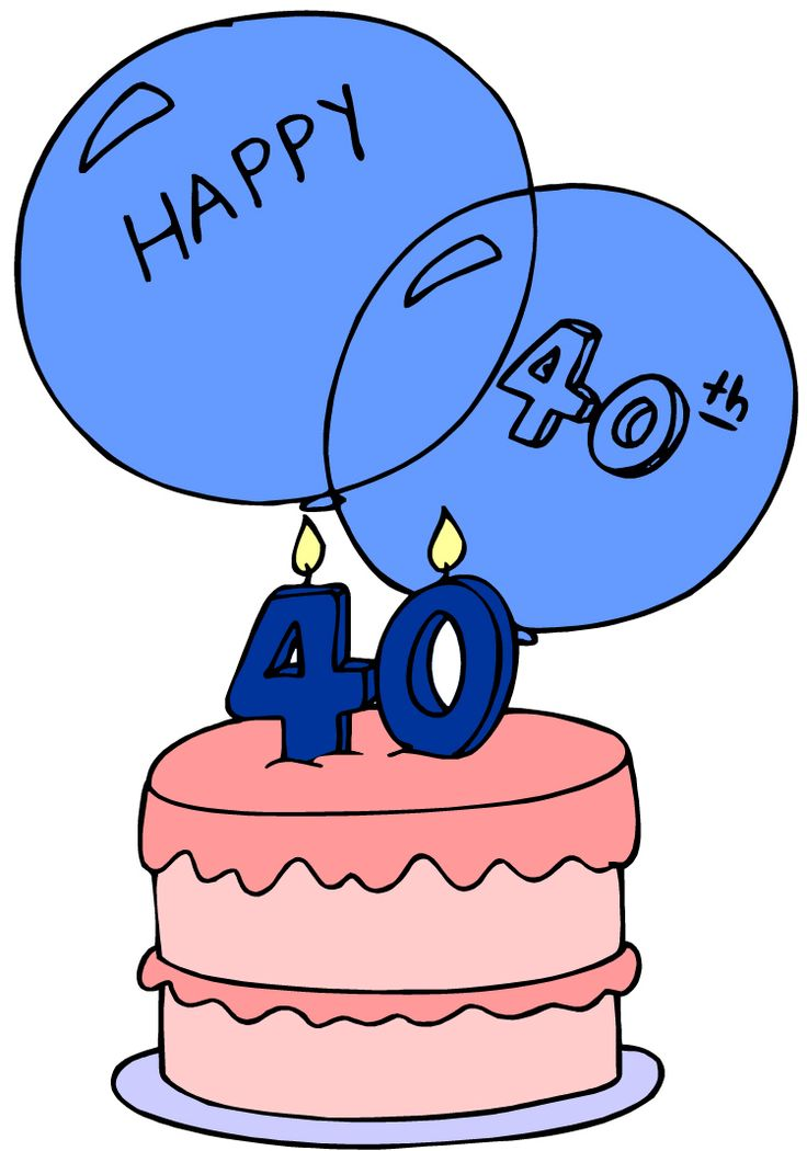 Turning 40 clip art image black and white stock Happy 40th Birthday Images For Him - ClipArt Best - ClipArt Best ... image black and white stock