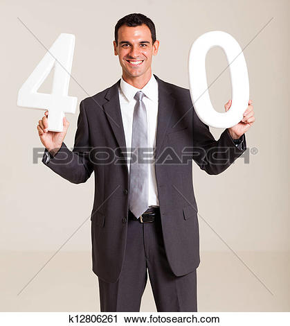 Turning 40 clip art image library Stock Photography of businessman turning 40 years old k12806261 ... image library