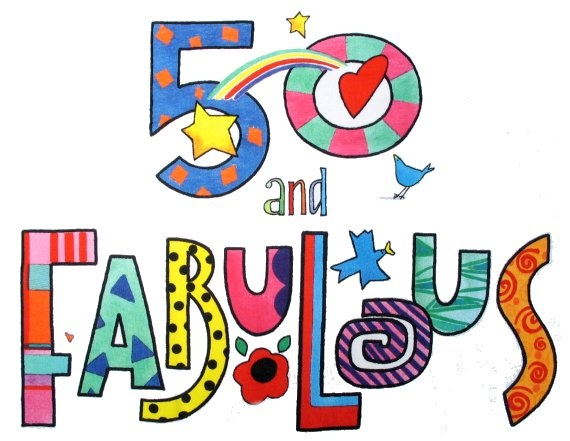 Turning 50 clipart graphic black and white library 17 Best images about Someone's turning 50!!!!!!!! on Pinterest ... graphic black and white library