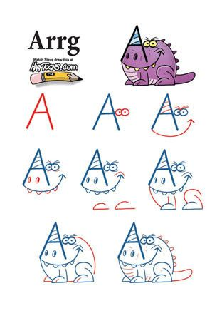 Turning doodles into clipart jpg royalty free Take letters from the alphabet and turn them into monsters ... jpg royalty free