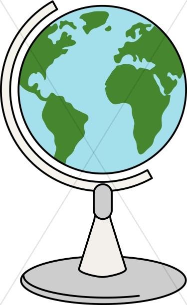 Turning globe clipart clip stock Spinning Globe   Christian Classroom Clipart clip stock