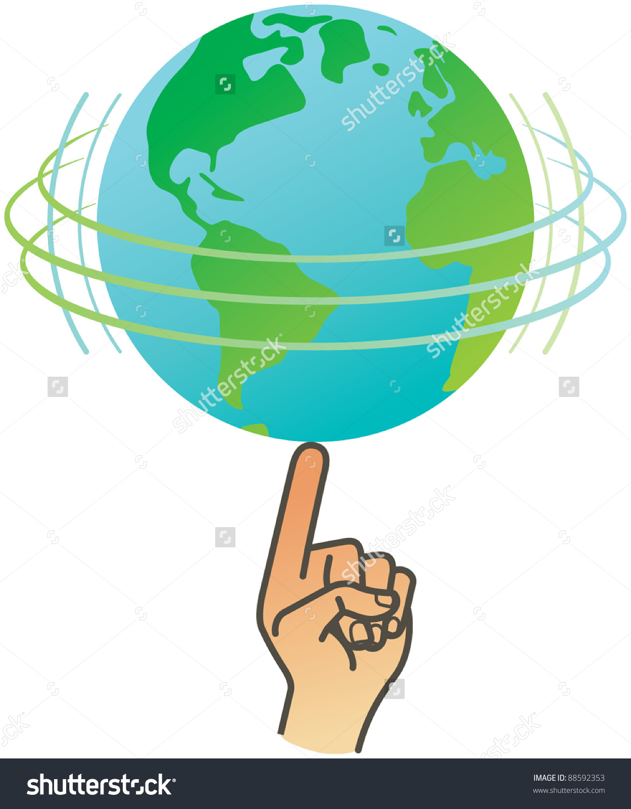 Turning globe clipart clipart library stock Earth rotation clipart - ClipartFest clipart library stock