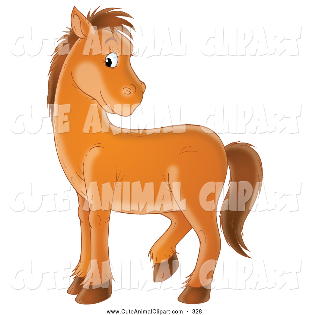 Turning head clipart png freeuse Clip Art of a Happy and Bashful Brown Pony Turning Its Head over ... png freeuse