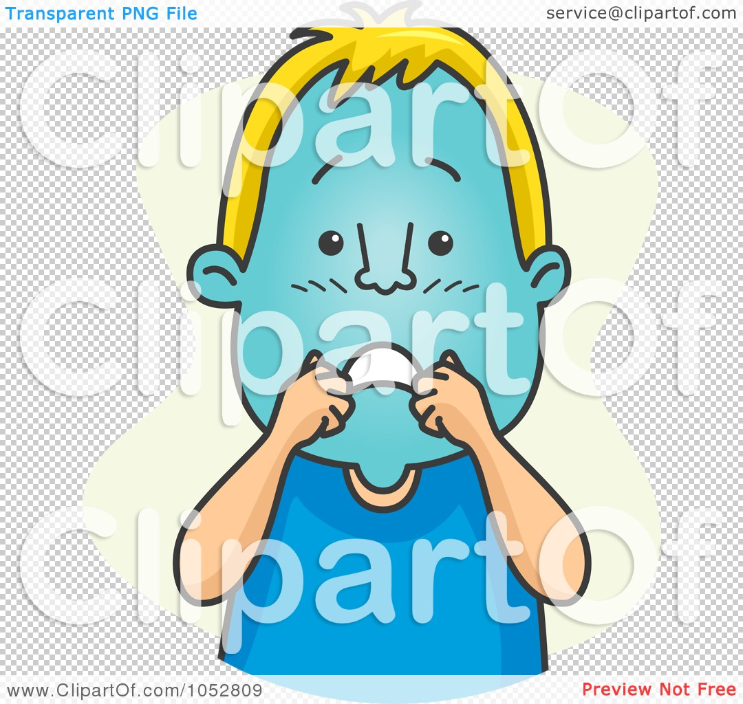 Turning head clipart clip library download Royalty-Free Vector Clip Art Illustration of a Man Turning Blue In ... clip library download