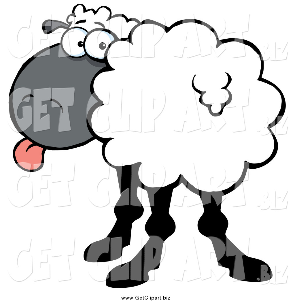 Turning head clipart svg black and white Clip Art of a Sheep Turning Its Head Back and Sticking Its Tongue ... svg black and white