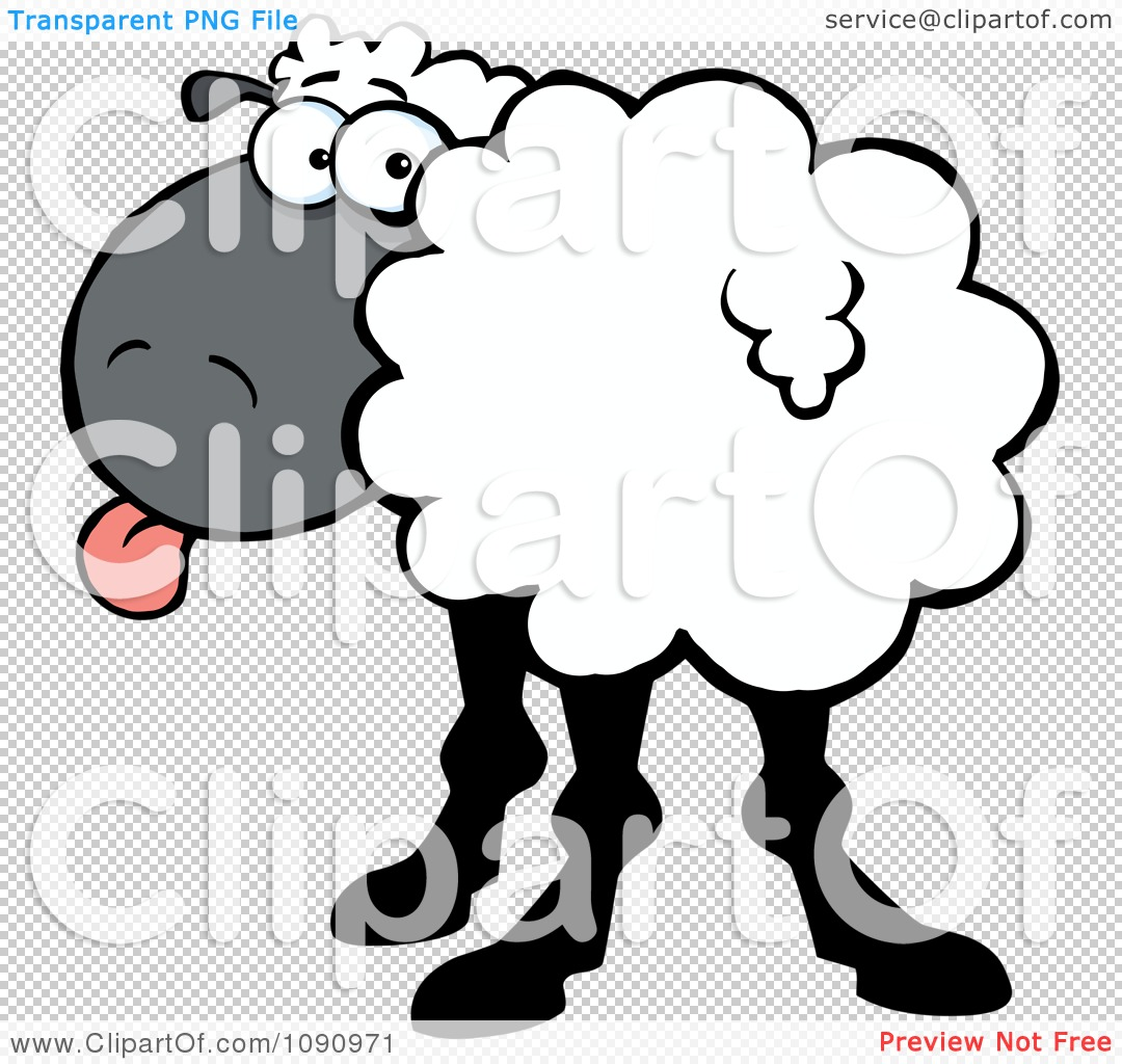Turning head clipart jpg library download Clipart White Sheep Turning Its Head Back And Sticking Its Tongue ... jpg library download