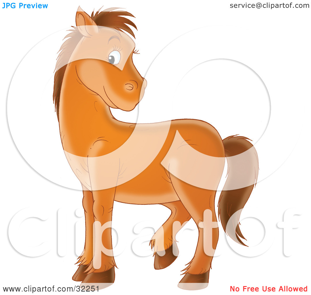Turning head clipart clip royalty free download Clipart Illustration of a Bashful Brown Pony Turning Its Head Over ... clip royalty free download