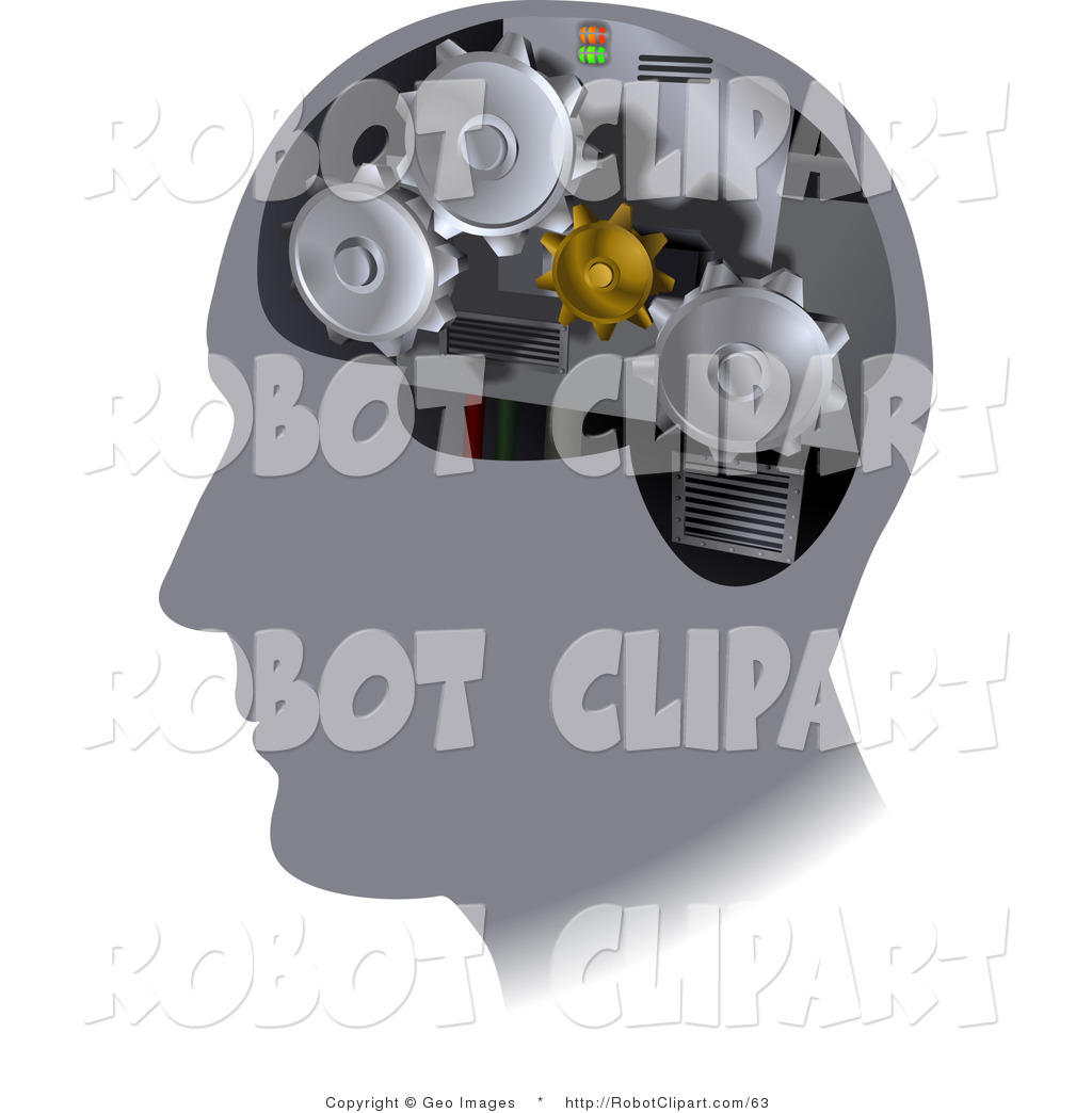 Turning head clipart clipart royalty free download Clipart of Turning Gears Inside a Human Head by ... clipart royalty free download