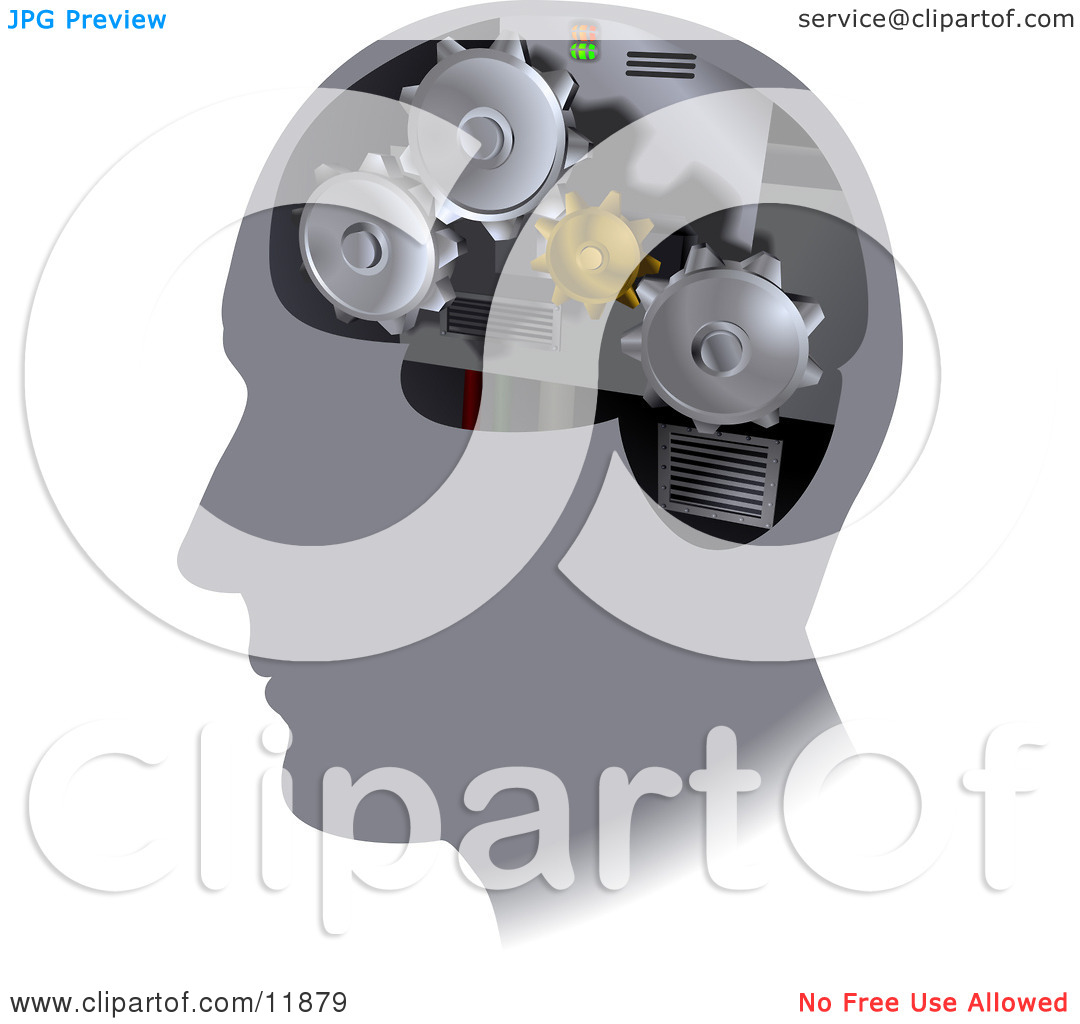 Turning head clipart image library Turning Cogs Inside a Human Head Clipart Illustration by ... image library