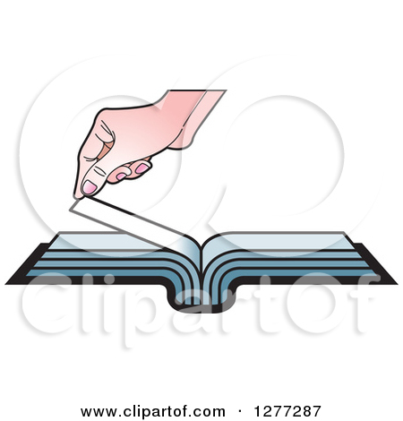 Turning page clipart clipart freeuse Royalty-Free (RF) Clipart Illustration of a Horizontal Page ... clipart freeuse